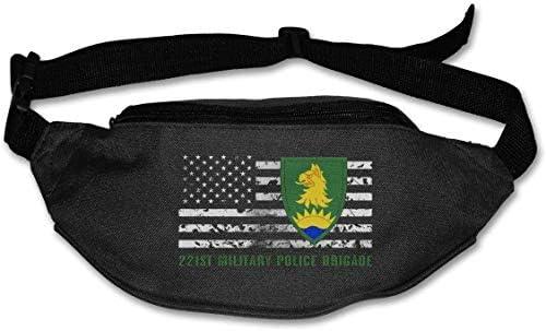 第221軍警察旅団ユニセックス屋外ファニーパックバッグベルトバッグスポーツウエストパック