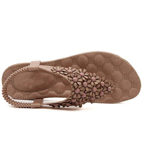 Zapatos De Rosado Flores las estilos mujeres De Bohemia sandalia de chancletas 7tZwxn