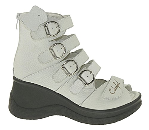 Bootsland Art 810 Plateausandalen Sandalen Plateauschuhe Stiefelletten Stiefel Leder