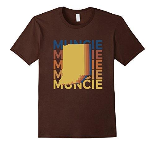 Mens Muncie Indiana T Shirt Vintage IN Repeat XL Brown