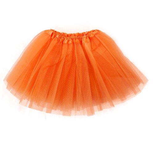 Organza Pettiskirt 3 Orange Femme Imixcity Mini Couleurs 12 Jupe Couche Robe D'lastique qwtgd6z0x