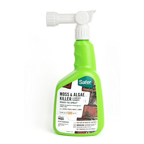Safer Brand 5324 Moss and Algae Killer and Surface Cleaner, 32 oz. Hose Sprayer (Best Moss Killer For Patios)
