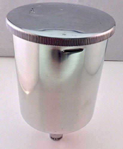 Spray Gun Aluminum Teflon Coated Cup w/Aluminum Screw On Lid HVLP 0.6 Liter