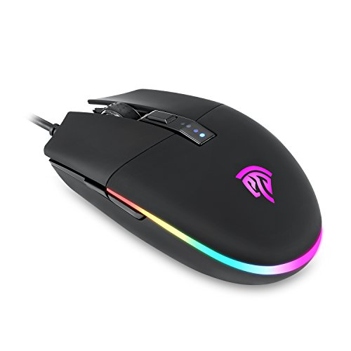000 Feed (Gaming Mouse, EasySMX V50 Wired RGB Gaming Mouse with 16.8 Million Color Options, 5 Programmable Buttons, 5 DPI Adjustments, On Board Memory, up to 7000 DPI, Cycle & Breathing Lighting)