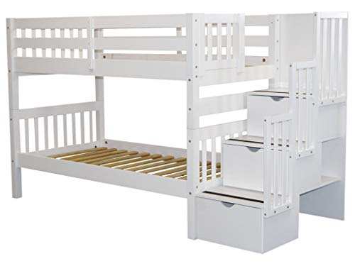 home, kitchen, furniture, bedroom furniture, beds, frames, bases,  beds 4 image Bedz King Stairway Bunk Beds Twin over Twin in USA