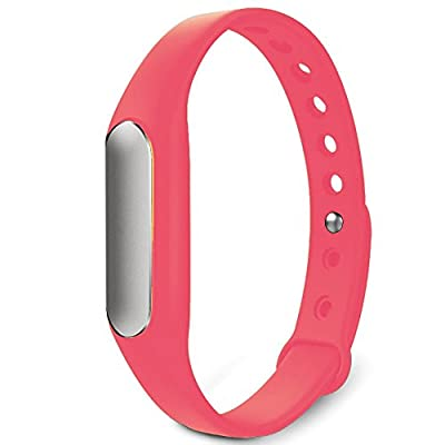 Twinbuys Smart Bracelet Bluetooth 4.0 Android iOS Fitness Tracker Phone Message Notice Pedometer Distance Calories Counter Sleep Monitor Health Sport Wristband Pink