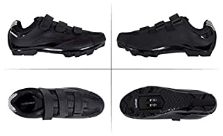 Tommaso Montagna 100 Men's Mountain Bike MTB Spin Cycling Shoe Compatible with SPD Cleats Black - 44