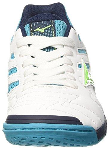 Mizuno Sala Classic 2 In, Zapatos de Futsal para Hombre, Multicolor (Whitegreengeckopeacockblue), 41 EU