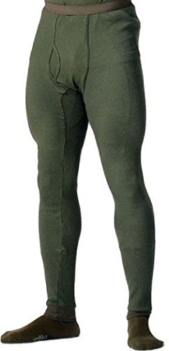 (Olive Drab Cold Weather Winter Thermals Knit Underwear Bottoms Pants Long)