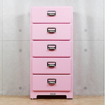 Captivating Dulton 5 Drawers Chest (Pink)