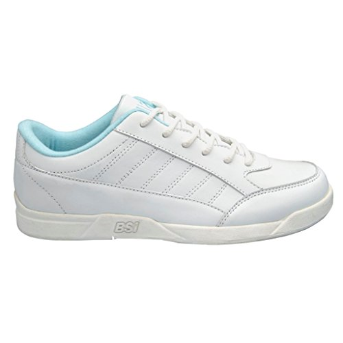 BSI Damen Basic Bowlingschuhe Weiß Blau