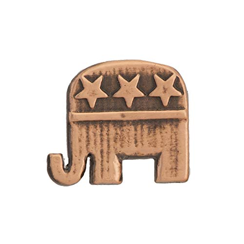Pin Republican Elephant (Creative Pewter Designs Republican Elephant Copper Plated Mini Lapel Pin, Brooch, Jewelry, AC1030MP)