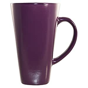 tall coffee mugs 16 oz ceramic coffee mug purple 11445