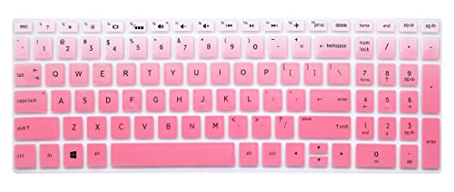 Silicone Keyboard Cover Skin for for 15.6 HP Pavilion x360 15-br075nr, Pavilion 15-cc 15-cb series 15-cc010nr 15-cb010nr, HP ENVY x360 15m-bp 15m-bq series, HP ENVY 17.3 17m-ae011dx (Ombre Pink)
