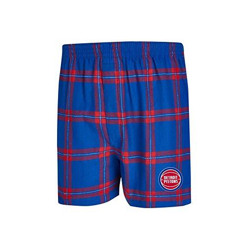 (Concepts Sport Detroit Pistons Men's Boxers Flannel Boxer Shorts (X-Large))