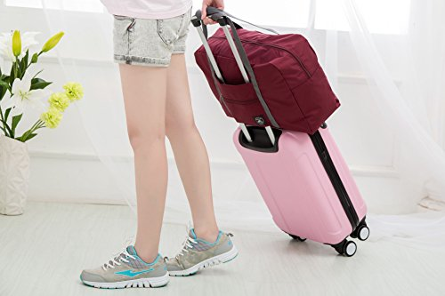 27e79b99cb18 FUNFEL Travel Foldable Duffel Bag for Women   Men