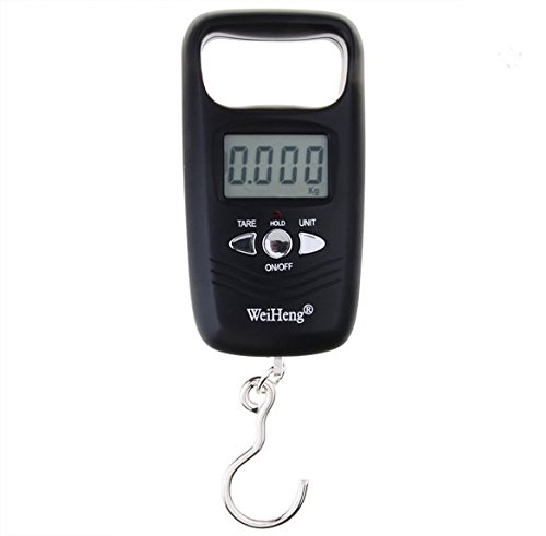 Double Precision 10kg/5g 50kg/10g Digital Hanging Scale Portable Electronic Luggage Scale Black