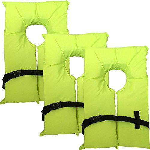 Hardcore Water Sports 3 Pack Type II Neon Yellow Life Jacket