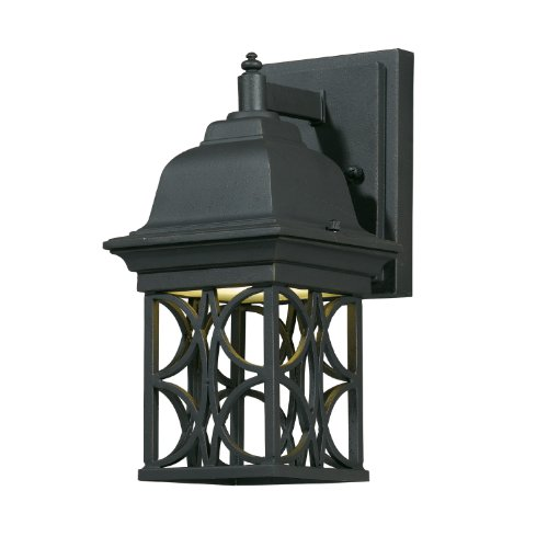 Triarch International 78140-10 Energy Efficient 1-Light CFL Outdoor Wall Sconce, Blacksmith Bronze Finish