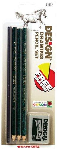 Prismacolor Design Drawing Pencil Set, 4 Pencils, 1 Eraser (2502) (Drawing Pencils Under $5 compare prices)