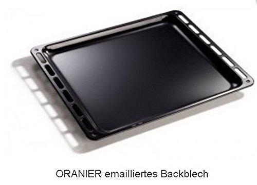 Oranier 2910237000 emailliertes Backblech Pizzablech Kuchenblech Plätzchenblech