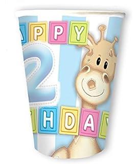 Playflip 2 Geburtstag Giraffe Junge 20 Servietten Amazon De Spielzeug