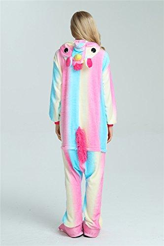 Unicorn Costume Party Animale Cosplay Pigiama Arcobaleno2 Halloween Colorfulworld Sleepwear qUEw1px