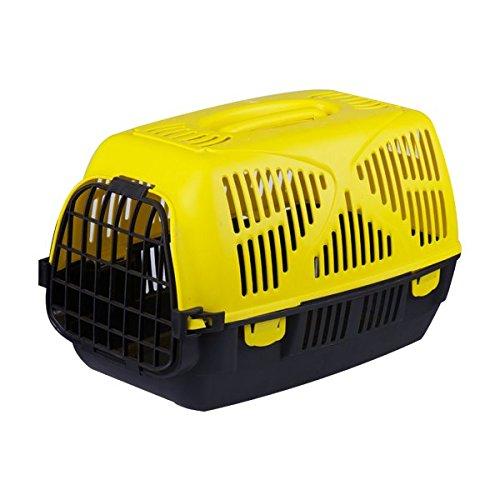 Nobleza Transportín rígido para Perros o Gatos, Color Amarillo y Negro, Largo 49cm.: Amazon.es: Hogar