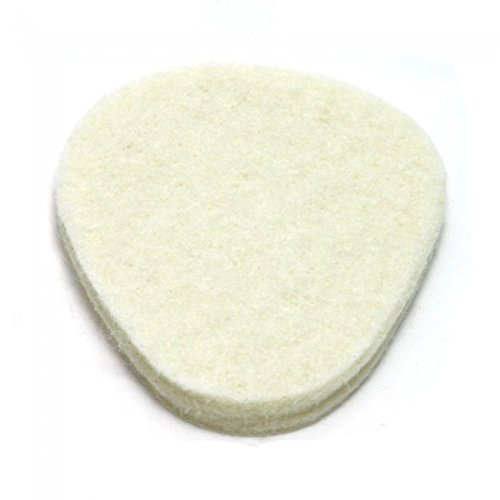 100 Pack, Felt Metatarsal Cushions, 1/4'' Adhesive Felt Ball of Foot Pad from Atlas Biomechanics by Atlas Biomechanics