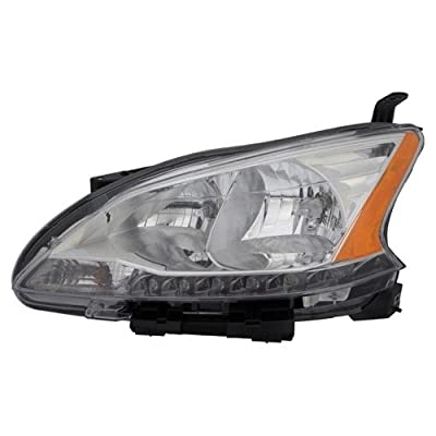 Go-Parts » Compatible 2013-2015 Nissan Sentra Front Headlight Headlamp Assembly Front Housing/Lens / Cover - Left (Driver) Side 26060-3SG2A NI2502216 Replacement for Nissan Sentra