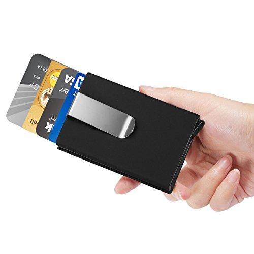ManChDa RFID Slim Mini Wallet - Elite Men's Card Holder Black Fashion Card Case