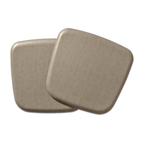 Pad Leather Gel Seat (NewLife by GelPro Vintage Leather Comfort Seat Cushion, 16 x 16, Mushroom, 2 Piece)
