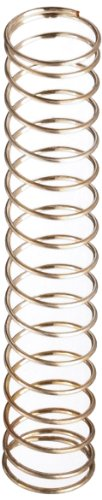 """Silver-Coated Beryllium Copper Compression Spring .350"""" OD x .020"""" Wire Size x 2.000"""" Free Length (Pack of 10)"""