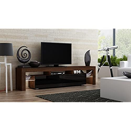 Superior TV Stand MILANO 200 Walnut Line / Modern LED TV Cabinet / Living Room  Furniture / Tv Cabinet Fit For Up To 90 Inch TV Screens / High Capacity Tv  Console For ...