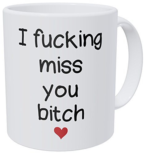 A Mug To Keep – I Miss You B Fiend, Heart, Girlfriends, Long Distance Frienship - 11 Ounces Gift Coffee Mug – Funny Inspirational And Motivational