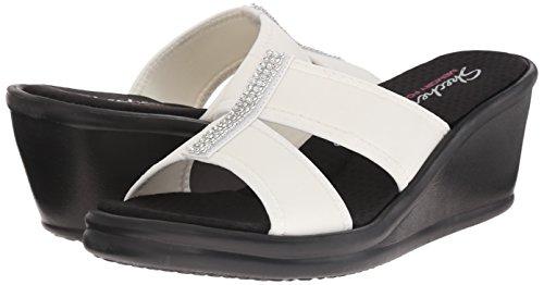 Mujer Sandalias Slide Cali De strap Cuña Noir Two Rumblers Skechers Bw5AxYw