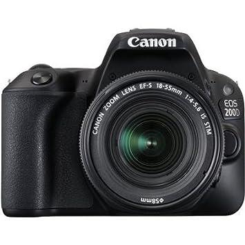 JSD PRO Canon 200D Camera with 18 55mm Lens, 16 GB SD Card, Storage Bag  Black  Digital Cameras