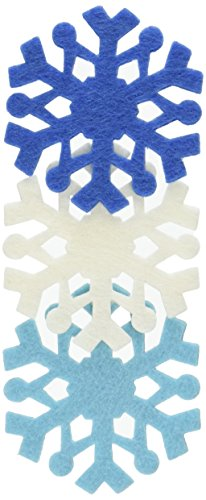 Dimensions Feltworks Laser Cut Snowflakes, Blue, Light Blue and White, Set of 6