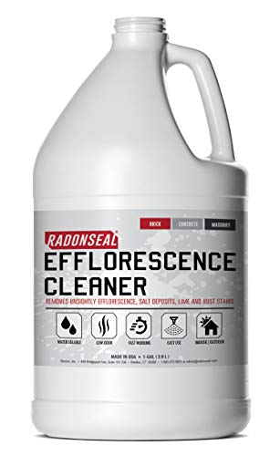 (RadonSeal Efflorescence Remover | Cleans Efflorescence, Mortar Haze, Lime Deposits, and Rust Stains. No Oder | Safe for Use Indoors & Outdoors)