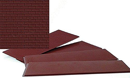 Walthers, Inc. Brick Sheet, 4 X 9-3/4'' 10.1 X 24.7cm, Dark Red