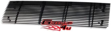 APS Compatible with 87-91 Ford Bronco F-Series Pickup Black Billet Grille Insert N19-h90058F