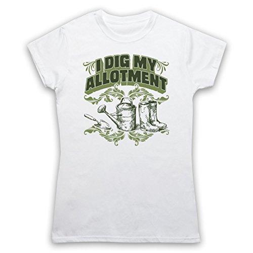 I Dig My Allotment Gardening Slogan Camiseta para Mujer Blanco