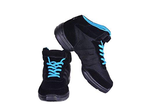 Nenes Collection Mujeres Dance Fitness Tobillo Zapatillas Altas Nenes Shoes (11, Negro)