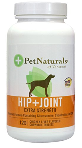 Pet Naturals Hip & Joint Tablets, Extra Strength, 120-Count Bottle