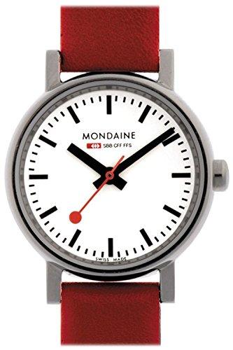 Mondaine correa de reloj A658.30301.11SBC / BM20024 / 30301 / Evo 26 Cuero Rojo 12mm(Sólo reloj correa - RELOJ NO INCLUIDO!): Amazon.es: Relojes