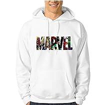 (たくましい)Ubigger Marvel パーカー 裏起毛 暖かい プルオーバー ...