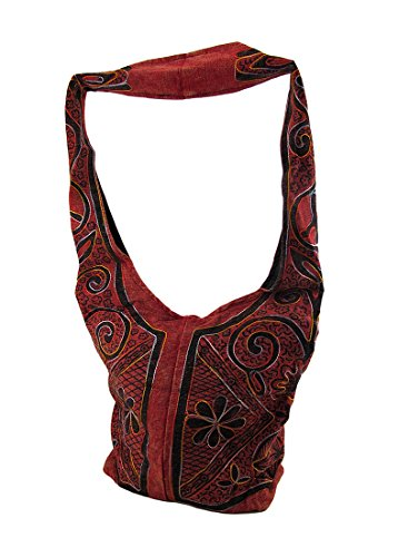 Zeckos - Bolso cruzados de algodón para mujer Talla Unica Red