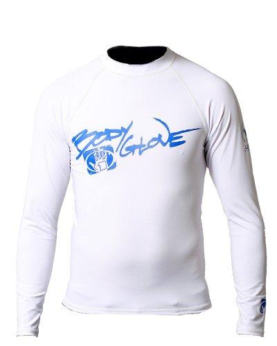 Body Glove Long Arm Lycra Rash Guard Shirt (White, Medium)
