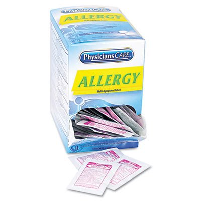 PhysiciansCare Allergy Antihistamine Medication, 50 Doses of Two Tablets -