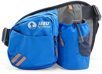 Sports Fanny Pack, Lightweight Waist Bag Hip Bag with Water Bottle Holder